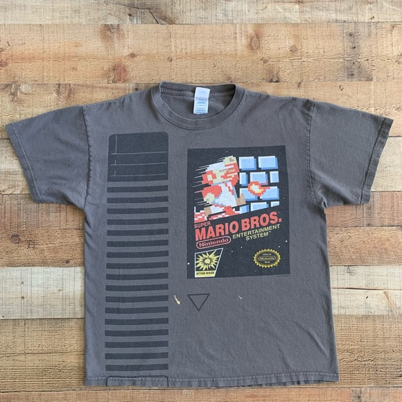 Super Mario Brothers Bros Vintage Classic T-Shirt Tee White Short Sleeve New